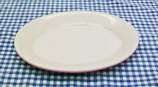 "HOMER LAUGHLIN Small White Oval Platter Relish Serving Dish 8 1/8"" x 5 3/4"" USA"