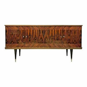 French Art Deco Exotic Macassar Ebony Sideboard or Buffet or Credenzas 1940s