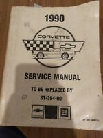 1990 Chevrolet Corvette Factory Preliminary Service Shop Manual