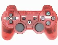 Wired Ps3 Controller Crystal Clear Red Wire & Box Playstation 3 PAD
