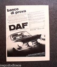 P037 - Advertising Pubblicità -1971- BANCO DI PROVA DAF