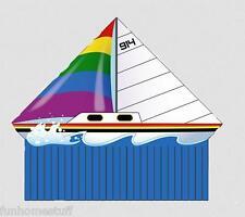 "54"" Delta Xt Sailboat Nylon Wind Flying Kite + Line, Winder / Handle, & Skytails"