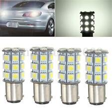 4Pcs 1157 BA15D 27SMD 5050 Car LED Tail Reverse Brake Light Bulb Lamp White 12V