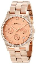 NEW MARC JACOBS HENRY GLITZ ROSE GOLD TONE DIAL LADIES WATCH MBM3118