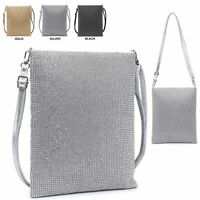 Ladies Diamante Cross Body Bag Messenger Bag Crystal Shoulder Bag Handbag M38427