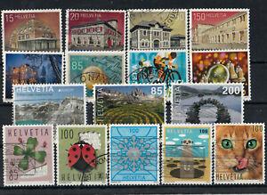 Briefmarken, Schweiz 2015 - 2020, gestempelt
