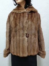 Scrap Damaged Muskrat Fur Coat Jacket Women Woman Sales As Is