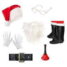 Luxury Christmas Santa Fancy Dress Costume Accessories Full Set