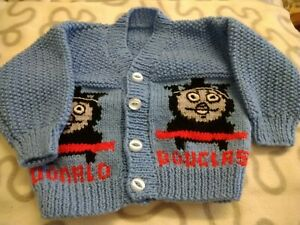 Handcrafted Childrens Thomas The Tank Cardigan