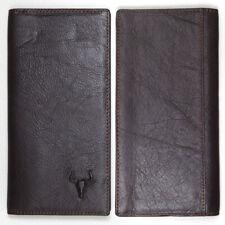 Vintage Genuine Men's Leather Wallet Long Wallet Zipper Coin Pocket