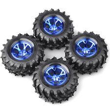 4X 1:10 Monster Truck Bigfoot Car Tires Wheel Rim 12mm Hex For HSP HPI RC Car