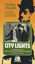 City Lights (Vhs) Playhouse Video Release! Charlie Chaplin!