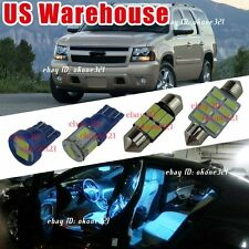 11-pc Aqua Ice Blue Interior LED Light Package inside  kit For 07-14 Chevy Tahoe