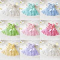 Baby Flower Girls Princess Dresses Pageant Wedding Party Bowknot Tutu Dress New