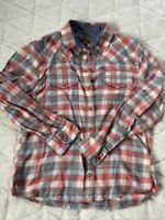 Jach's Girlfriend Women Shirt Medium Bea Flannel Snap Button Down Western Sz M