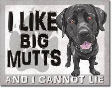 I Like Big Mutts I Cannot Lie Dogs Funny Humor Wall Bar Pub Decor Metal Tin Sign