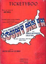 "Luella Gear ""COUNT ME IN"" Charles Butterworth / Jean Arthur '42 FLOP Sheet Music"