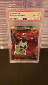 1993 TOPPS FINEST SHAQUILLE O'NEAL ALL STAR PSA 8 NM-MT ORLANDO MAGIC