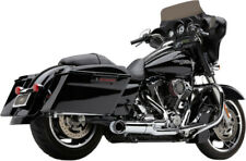 Chrome Cobra 2 Into 1 Full Exhaust Pipes System Muffler Harley 17-20 Touring