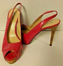 Guess Pink Open Toe Stiletto Heel Shoes 9.5