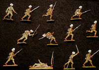 Indische Infanterie Vormarsch - 1. Weltkrieg - 12 Zinnfiguren 30mm - handbemalt