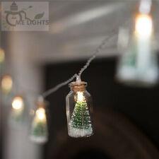 Christmas Tree Glass Jar Bottle String Lights 20 LED Light Party Fairy Lights