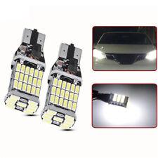 2Pc T15 W16W 45 SMD 4014 Error Free LED Car Reverse Back Light Bulbs White 6000K