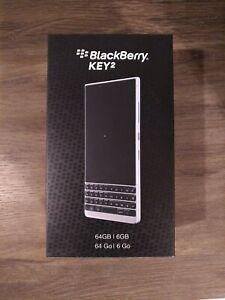 *USA Model, New, Sealed* BlackBerry KEY2 Smartphone (BBF100-2) Silver, 64 GB