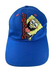 Sponge Bob Square Pants Blue Adjustable Kids Baseball Ball Cap Hat