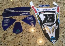 NEW! TEAM YAMAHA RACING GRAPHIC KIT DECAL YFZ450R 450R MANUEL ANDUJAR #73 SSI VP