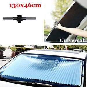 Car Retractable Windshield Sunshade Front Rear Window Foldable Visor Block Cover