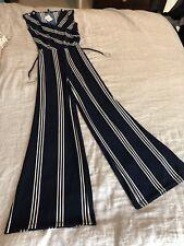 Ralph Lauren Navy Blue Stripe Jumper Jumpsuit Size S/P