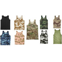 ARMY VEST COMBAT MENS TANK TOP MILITARY URBAN CAMO DESERT OLIVE SLEEVELESS TOP