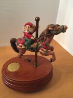 Carousel Elf Vintage WILLITS DESIGNS Plays Santa Claus is coming to town