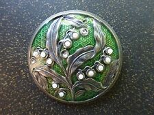 VTG Catherine Popesco Art Nouveau Enameled Brooch Pin Made in France - S3