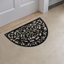 Half Round Wrought Iron Heavy Duty Rubber WELCOME Doormat / Entrance Door Mat