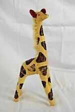 Straw Raffia Wrapped Giraffe African Table Decor 12.5 Inch Tall Figure