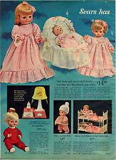 1965 ADVERT 2 PG Sears Talking Dolls Twins Miss Peep Snugglebun Lullabye Baby