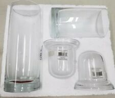 YANKEE CANDLE Set of 2 Clear Glass Cylinder Votive Candleholder NEW in Box Decor