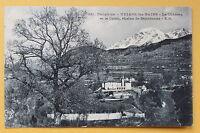 Postcard antique URIAGE baths - the Castle - the Colon chain BELLEDONNE