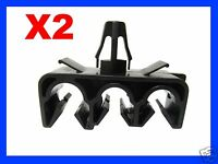 2 THREE HOLE BRAKE CLUTCH CABLE PIPE CLIP FIXING CAR auto plastic fastener