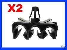 2 THREE HOLE BRAKE CLUTCH CABLE PIPE CLIP FIXING CAR auto plastic fastener