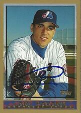 Carl Pavano Montreal Expos 1998 Topps Signed Card