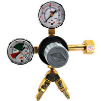 Two Product CO2 Pressure Regulator - Polycarbonate Bonnet - Y Fitting Draft Beer
