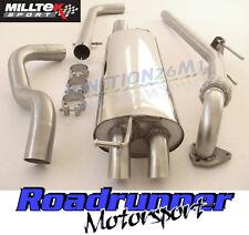 "Milltek Golf 1.9 TDi MK4 Exhaust System 2.5"" Non Res & De Cat Downpipe Discrete"