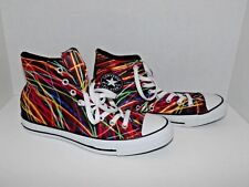 Converse Chuck Taylor High Top Laser Neon Lights Shoes Men's 8 Women's 10 (x)