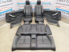 BMW M Sport Seats 4 Series F32 Coupe Black Leather Heated Brushed Aluminium Trim