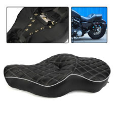Black Diamond Driver&Passenger TWO-UP Seat Fit Harley Iron Sportster XL883 04-16