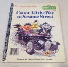 Count All The Way To Sesame Street. Golden Book 203-56 1985 Follow That Bird