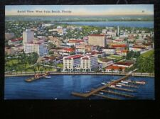 POSTCARD USA FLORIDA AERIAL VIEW OF WEST PALM BEACH